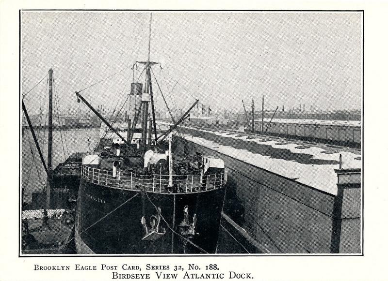 Birdseye View of Atlantic Dock, ca. 1905