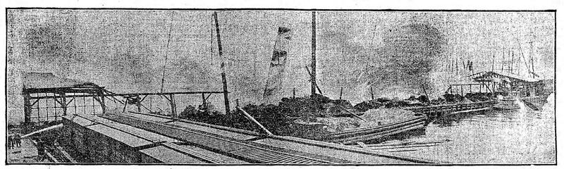 The Scene of Ruin at Beards' Wharf, Erie Basin
