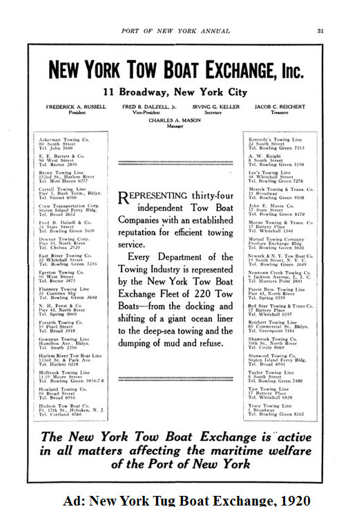 Ad: New York Tug Boat Exchange