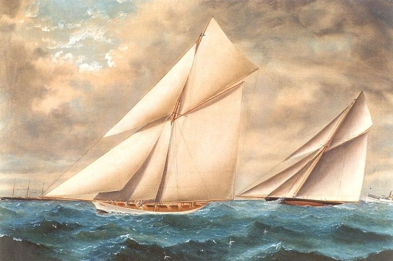 Yorke - America's Cup 1887 - VOLUNTEER and THISTLE.
