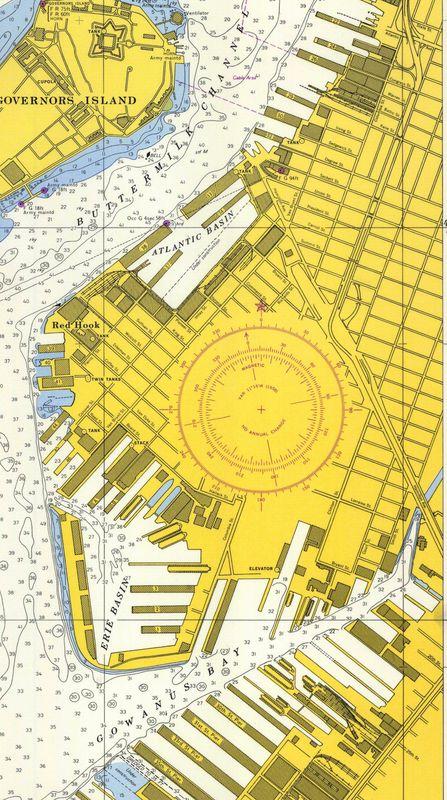Nautical Chart No. 541, New York Harbor, Upper Bay and Narrows, 35th Ed., 1957 [cropped]