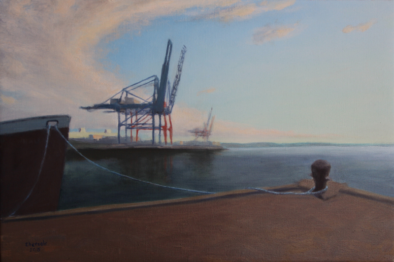 Cranes & the Mary A. Whalen