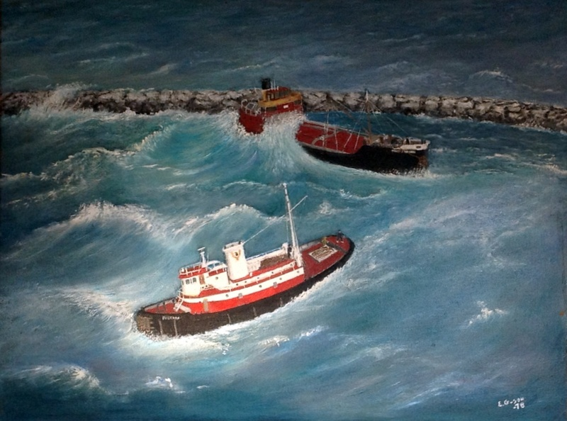 MARY WHALEN, grounded off of Rockaway Bay.  E. G., 1978<br /><br />