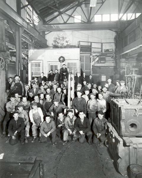 Employees at H.W. Ramberg Company Plant, Brooklyn, NY, 1947