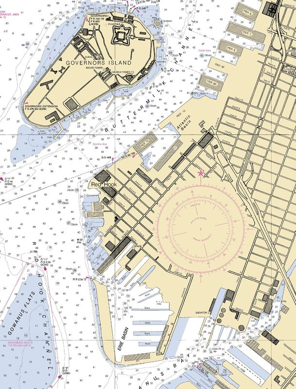 Nautical Chart No. 12334, New York Harbor, Upper Bay and Narrows, 69th Ed., 2008 [cropped]