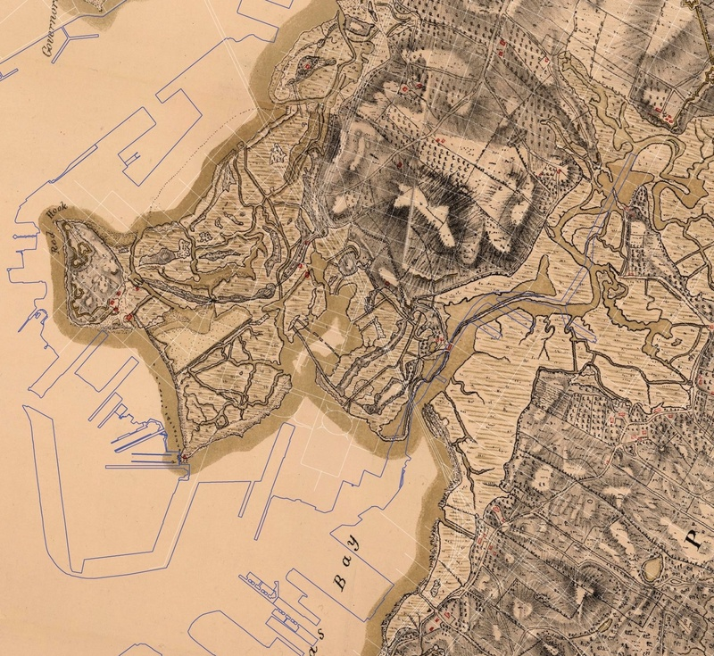 A 1782 map of New York, produced for the British Army.  Modern street overlay by Eymund Diegel