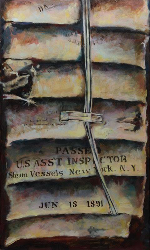 "Slocum #7 ""Life Preserver"" Oil on Canvass 18"" x 30"""