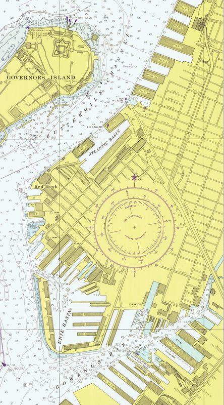 Nautical Chart No. 12334, New York Harbor Upper Bay and Narrows, 49th Ed., 1976 [cropped]