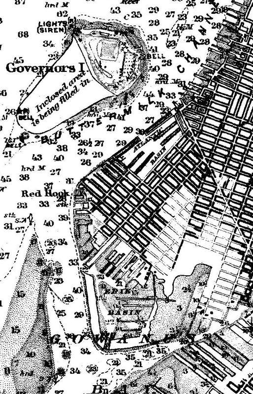 Nautical Chart No. 369, New York Bay and Harbor, Upper Half, 2nd Ed., 1910 [cropped]