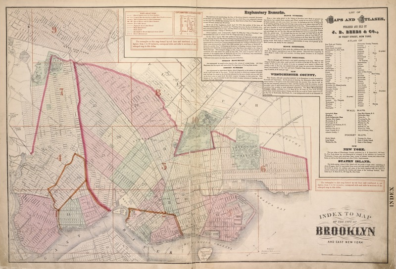 Index to map of the city of Brooklyn and East New York