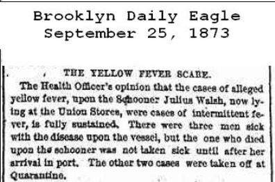 The Yellow Fever Scare