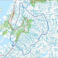 Watershed Map showing Sandy flooding, storm runoff, former marshes by Eymund Diegel<br />