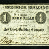 One Share of One Dollar of the Red Hook Building Company