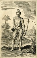 Native American depicted by European, c. 1650